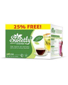Sweetly Stevia Granulated Stevia 250 Pack