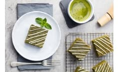Matcha Green Tea Moche Squares