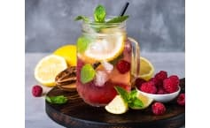 Low Carb Raspberry Lemonade