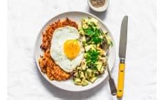 Sweet Potato Rostis with Fried Egg and Avocado Salsa