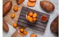 Sweet Potato Tots with Homemade Stevia Ketchup
